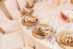 在婚礼的简单表arragement 库存照片