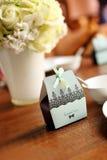 在婚礼的糖果配件箱 免版税库存图片