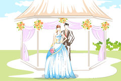 在婚礼的美好的夫妇 免版税库存图片