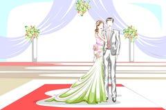 在婚礼的美好的夫妇 库存图片