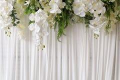 在婚礼的花背景 免版税图库摄影