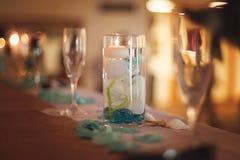 在婚礼的表设置 免版税库存照片
