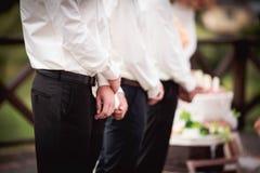 在婚礼的证人 库存照片