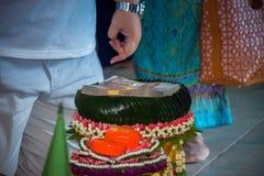 在婚礼的陪嫁 库存照片