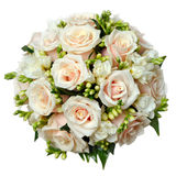 在婚礼聚会的美丽的新娘花束 库存图片
