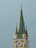 在媒介的撒克逊人的塔,罗马尼亚 免版税库存照片
