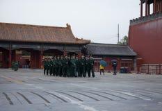 在子午门正方形,北京 免版税库存照片
