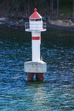 在孑然的一座灯塔 库存照片