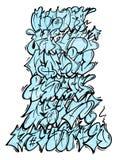 在字母表上写字的街道画 皇族释放例证