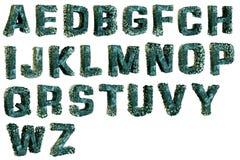 在字母表信件的眼镜 免版税库存照片