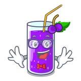 在字符桌上的怪杰玻璃葡萄汁 向量例证