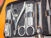 在存贮袋子的飞剪机工具 免版税库存照片