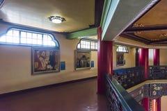在孙逸仙纪念堂二楼上的油画陈列  库存图片