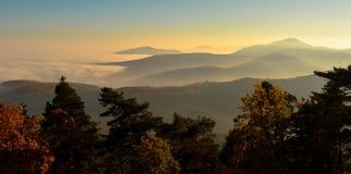 在孚日省的有雾的天 库存照片