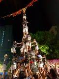 在孟买Handi庆祝的印地安节日达西酸奶,印度 免版税库存图片