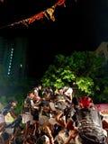 在孟买Handi庆祝的印地安节日达西酸奶,印度 免版税库存照片