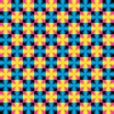在孟菲斯样式的五颜六色的几何传染媒介样式 库存图片