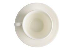 在孤立的空的咖啡杯 免版税库存照片