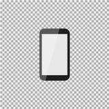 在孤立背景的现实现代手机 也corel凹道例证向量 免版税库存图片