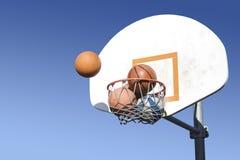拥挤篮球Hoop_A1 图库摄影