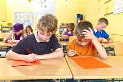 在学校测试 免版税图库摄影