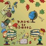 在学校题材,学校设计的儿童的color_3_illustration  库存照片