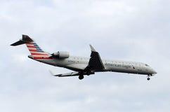 在它的飞机飞行是最后渐近 免版税库存图片