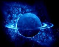 在宇宙的土星 库存照片