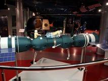 在宇宙航行学博物馆  探险空间的历史 免版税库存照片
