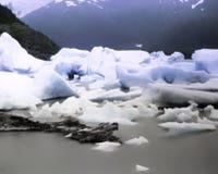 在安克雷奇阿拉斯加之外的Portage冰川 图库摄影