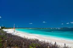 在安圭拉加勒比的集合点海湾 库存图片