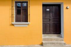在安地瓜很好再磨光的老房子 免版税库存照片