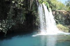 在安塔利亚省的Duden瀑布在土耳其 库存照片
