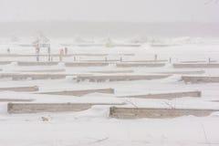 在安大略加拿大的冬天风暴 图库摄影