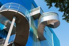在安大略美术画廊的螺旋台阶  免版税库存图片
