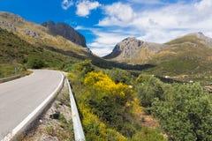 在安大路西亚,西班牙通过路 库存照片