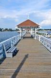 Bradenton海滩历史的码头 免版税库存照片