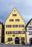 2在安排rothenburg tauber游人城镇访客年期间吸引der每市场mediaval百万ob 图库摄影