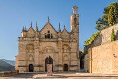 在安特克拉-西班牙的圣玛丽亚la市长教会的看法 库存照片