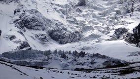 在安纳布尔纳峰电路的山,尼泊尔 库存照片