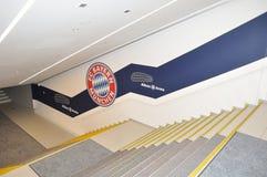 在安联球场的台阶在慕尼黑,德国 图库摄影