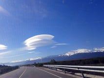 在安达卢西亚的天空,西班牙的奇怪,神奇云彩 免版税图库摄影