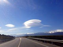 在安达卢西亚的天空,西班牙的奇怪,神奇云彩 免版税库存图片
