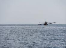 在安达曼海的捕鱼船 免版税图库摄影