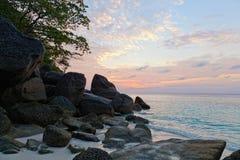 在安达曼海的日出 免版税图库摄影