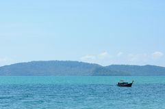 在安达曼海,泰国的小船 免版税库存图片