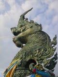 在宋卡泰国港的绿色Serpant  免版税库存照片