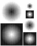 在完全密集的安排的不透明的辐形梯度 皇族释放例证