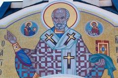 在宗教题材圣尼古拉斯的马赛克 库存图片