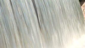 在室内大美丽的人为瀑布的近景 影视素材